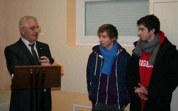 Cérémonie des voeux du maire: Joé et Samy ont été mis à l'honneur.