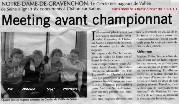 Championnats de France de natation de nationale 2 à Grand-Couronne: J-5