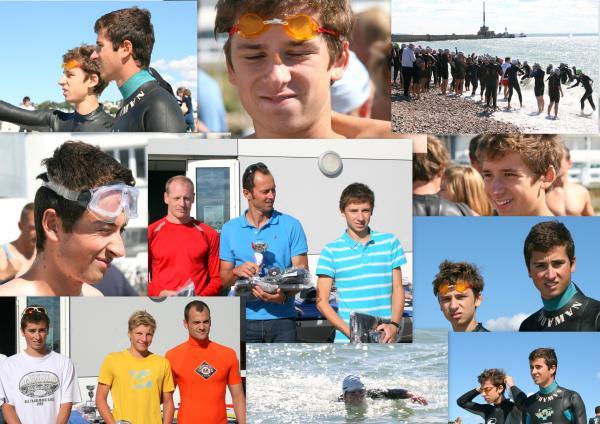 Traversée du Havre-Ste Adresse à la nage: Les Alexandre sur le podium!