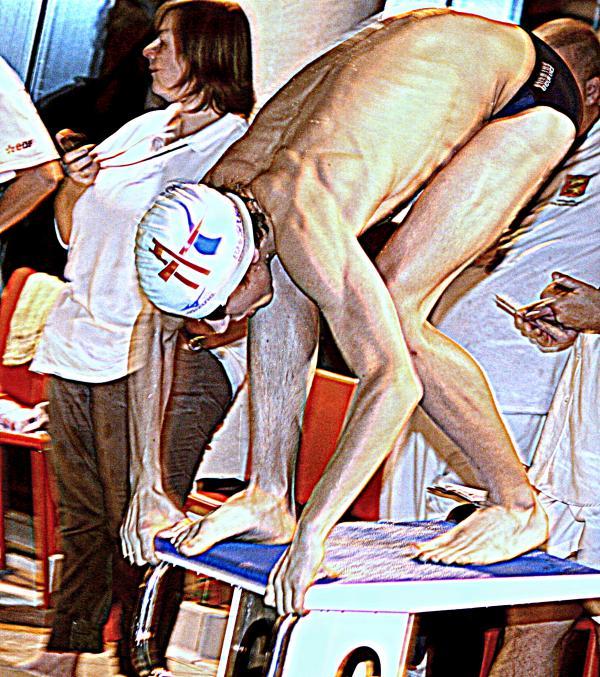 Championnats de France de natation de nationale 2 à Grand-Couronne: Joé est sur les starting-blocks!